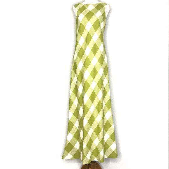 Jessica Howard Dresses & Skirts - Jessica Howard Green Checker Print Dress A200811